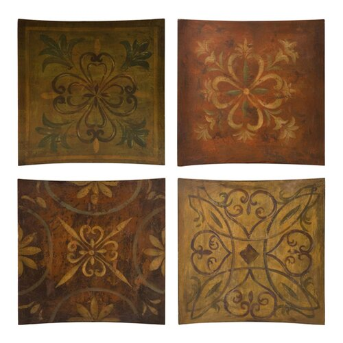 IMAX Molly 4 Piece Painting Print Plaque Set