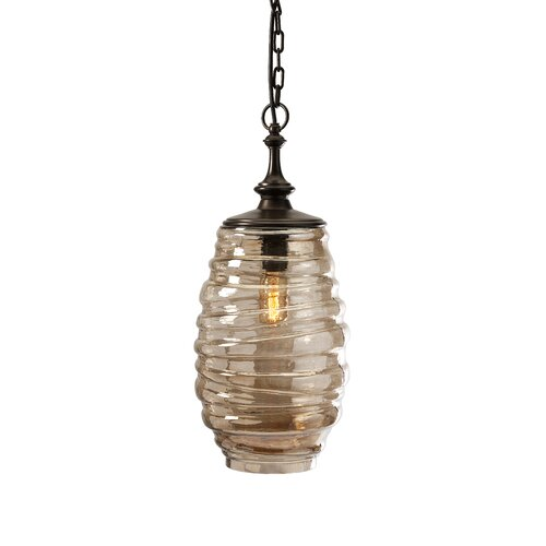 Riva Glass 1 Light Pendant