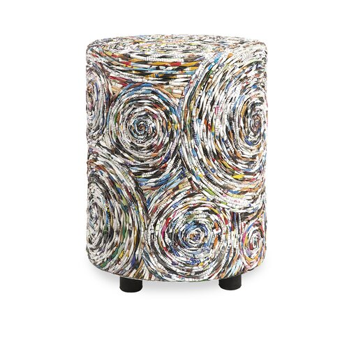 IMAX Anise Recycled Magazine Stool