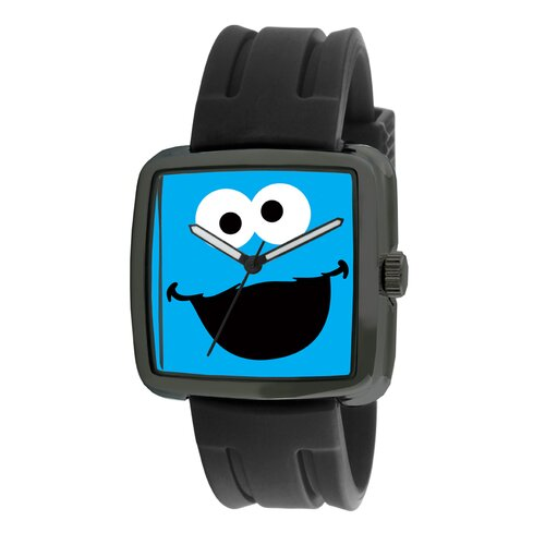 Cookie Monster Rubber Strap Watch in Black