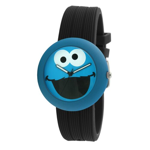 Cookie Monster Rubber Watch in Black