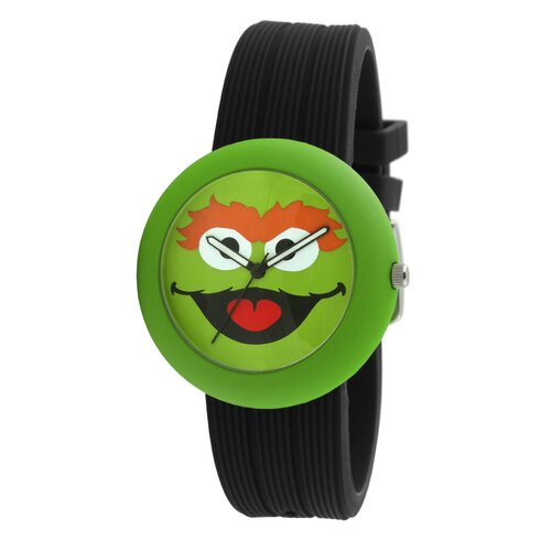 Oscar The Grouch Rubber Watch in Black