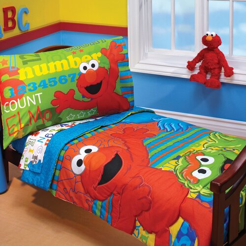 ABC 123 4 Piece Toddler Bedding Set