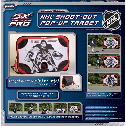 """Franklin Sports NHL 48"""" Pop - Up Shoot - Out Target with Ball Return"""