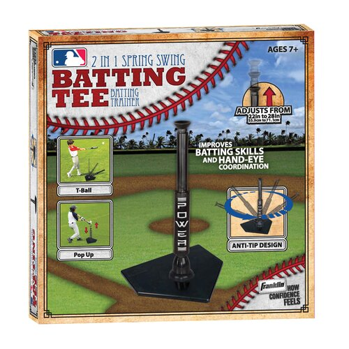 Franklin Sports MLB 2-in-1 Power Spring Swing Batting Tee
