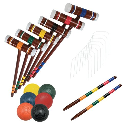 Franklin Sports Advanced 6 Player Combo Croquet Game Set
