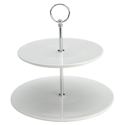 The DRH Collection Bia Flat Two Tier Cake Stand