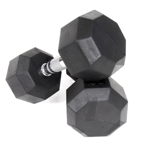VTX by Troy Barbell 50 lbs Rubber Encased Octagonal Dumbbells