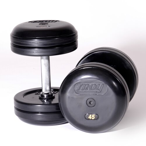Troy Barbell Pro-Style Rubber Dumbbells