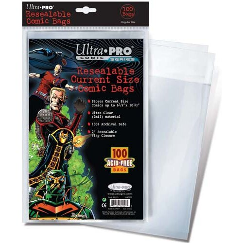"""Ultra Pro 6.8"""" x 10.75"""" Resealable Current Comic Bags"""