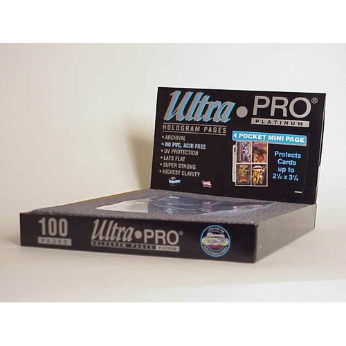 "Ultra Pro 2.5"" x 3.25"" Small Album Display Box (4 Pocket Mini Pages)"