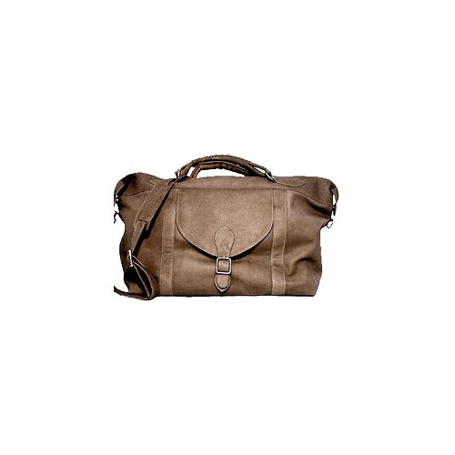 "David King 25"" Leather Top Zip Travel Duffel"