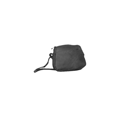 Front Slash Top Zip Mini Shoulder Bag