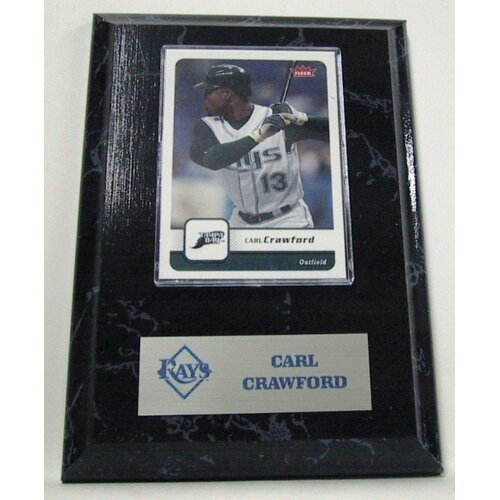 Sports Images Sports Images Card Plaque MLB Carl Crawford Card - Tampa Bay Rays Memorabilia Plaque