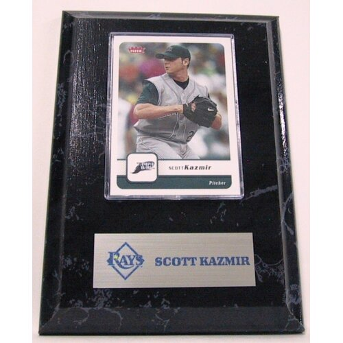 Sports Images Sports Images Card Plaque MLB Scott Kazmir Card - Tampa Bay Rays Memorabilia Plaque