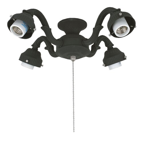 Four Light Victorian Ceiling Fan Light Fitter