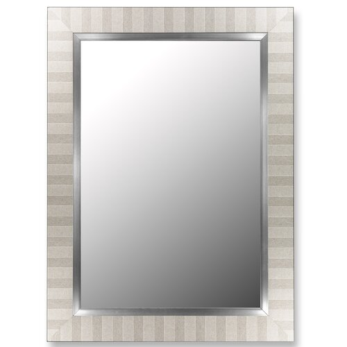 Parma Silver / Stainless Liner Framed Wall Mirror