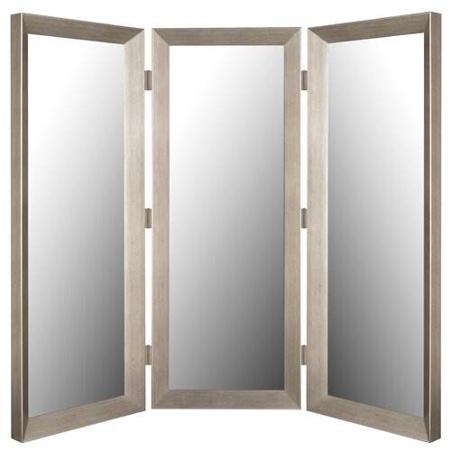 Hitchcock Butterfield Company Mirror 3 Panel Room Divider