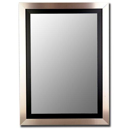 Silver / Black Framed Wall Mirror