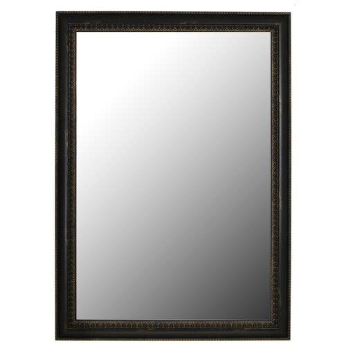 Hitchcock Butterfield Company Beaded Copper Black Petite Framed Wall Mirror