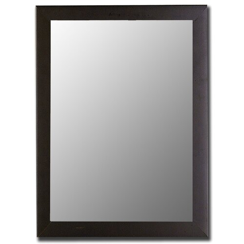 Hitchcock Butterfield Company Satin Black Framed Wall Mirror