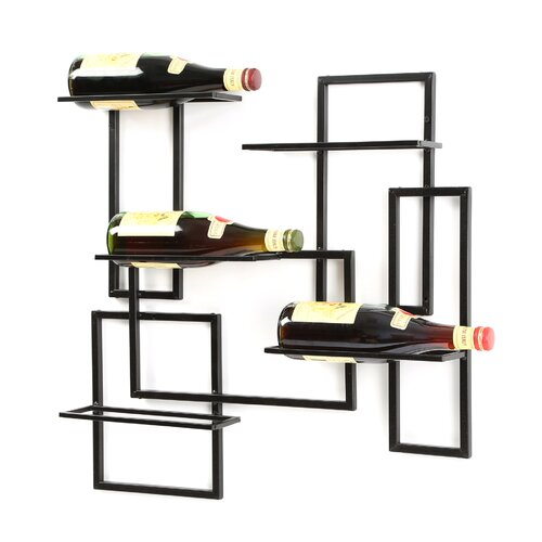 Oenophilia Mid Century 10 Bottle Wall Mounted Wine Rack