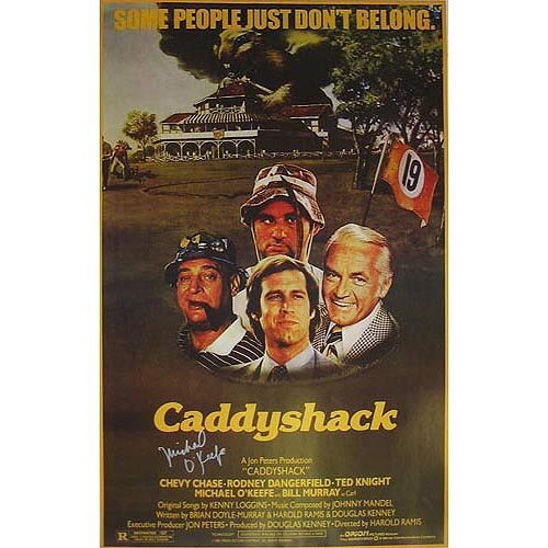 Steiner Sports Caddyshack Michael O'Keefe Autographed Movie Poster