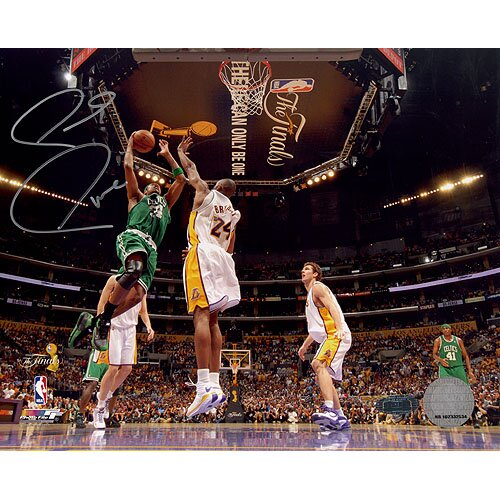 NBA Paul Pierce 08 Finals Lay Up Vs. Kobe Autographed