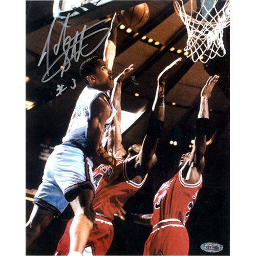 John Starks Close Up Dunk Autographed