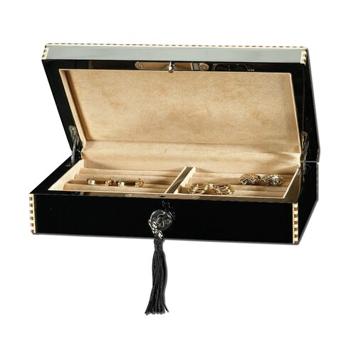 Ragar Fiddle Back Maple Cufflinks / Ring Collector's Jewelry Box