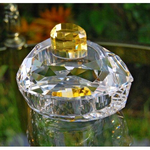 Pear Shaped Crystal Trinket Box