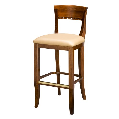 "Regal Italian Wood 30"" Bar Stool"