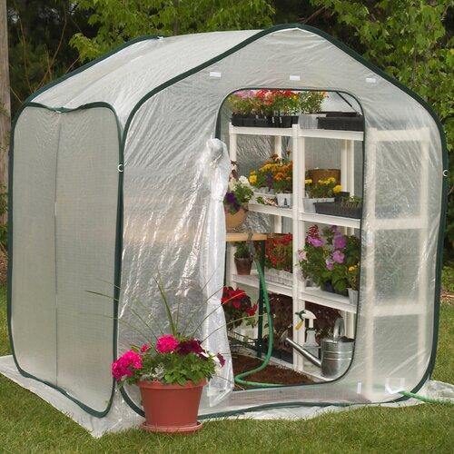Flowerhouse Springhouse 6' x 6' Polyethylene Greenhouse