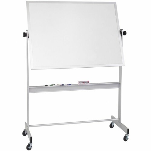 "CommClad 48"" x 72"" Thermal-Fused Melamine Deluxe Reversible Whiteboard in Aluminum"