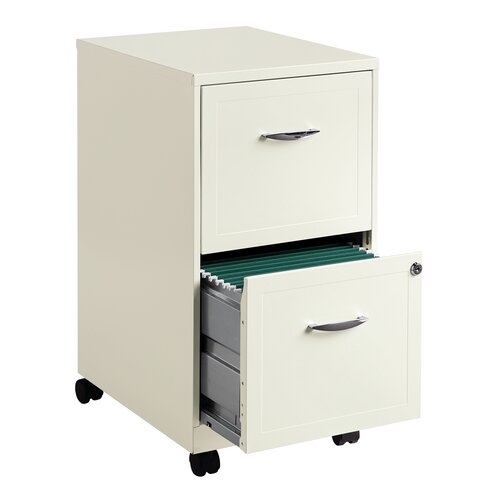 CommClad 2 Drawer Steel Mobile File Cabinet