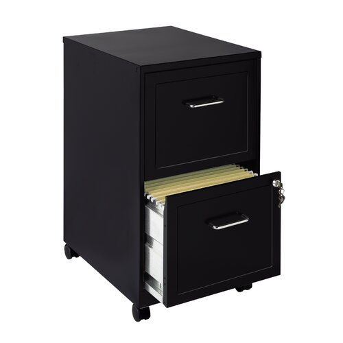 CommClad 2 Drawer Mobile File Cabinet