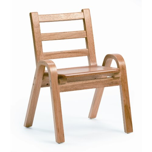 """Angeles 11"""" Wood Classroom Stacking Chair"""