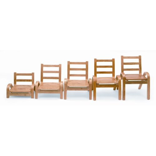 """Angeles 13"""" Wood Classroom Stacking Chair"""
