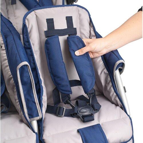 Angeles SureStop Folding Bye-Bye 6-Passenger Tandem Stroller