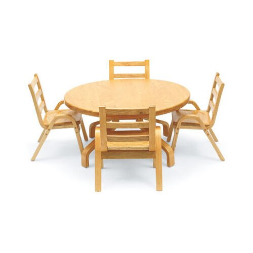 "Angeles NaturalWood 36"" Round Table"