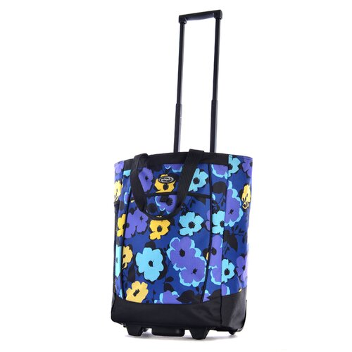 Fashion Flower Rolling Shopping Tote