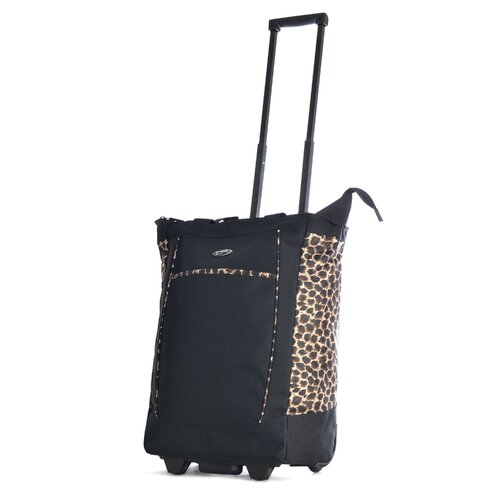 Leopard Rolling Shopping Tote