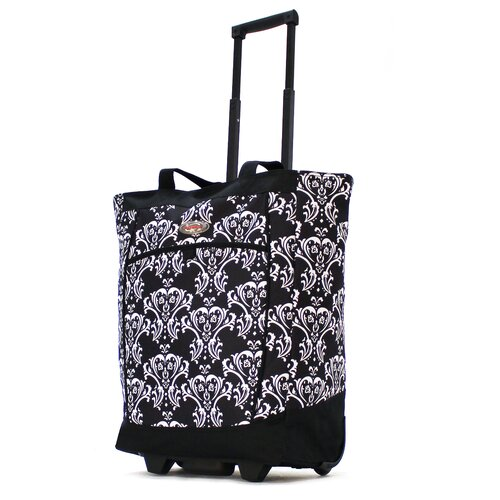 Fashion Damask Rolling Shopping Tote