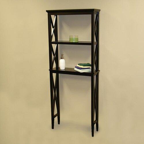 """RiverRidge Home Products X-Frame 26"""" x 64"""" Bathroom Shelf"""