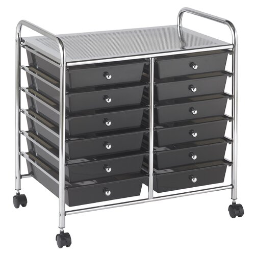 ECR4kids 12-Drawer Double-Wide Mobile Organizer
