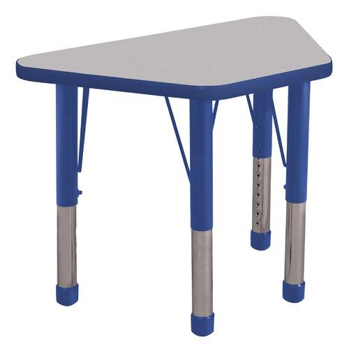 "ECR4kids 30"" x 20"" Trapezoidal Classroom Table"