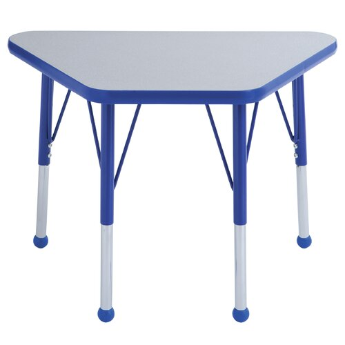 """ECR4kids 018"""" x 30"""" Trapezoid Learning Table in Gray"""
