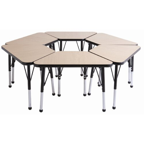 "ECR4kids 018"" x 30"" Trapezoid Learning Table in Gray"