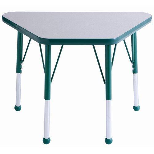"ECR4kids 30"" x 18"" Trapezoidal Classroom Table"