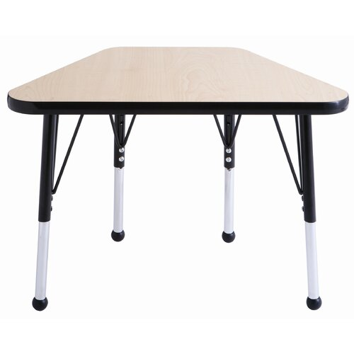 """ECR4kids 18"""" x 30"""" Trapezoid Learning Table in Maple"""